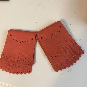 Bensimon Pink leather shoe kiltie